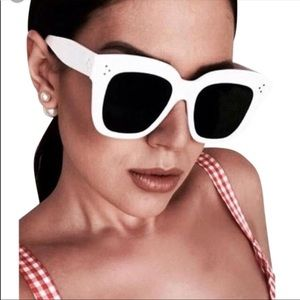 Celine Kim sunglasses - white